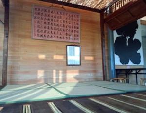 花博ガーデンパーク会場里の家に展示の書作品「百花文」(写真:静岡県撮影)